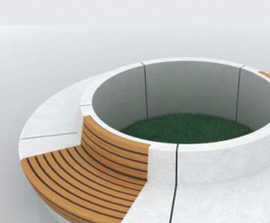 WOOD-Line Round tree seat