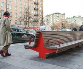 Cliffhanger park benches