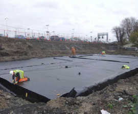 Sustainable surface water drainage system for car parks