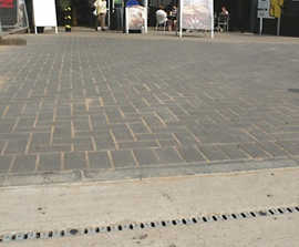 SUDS drainage channels, M5 Michaelwood Services