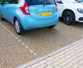 Ground reinforcement tiles - charity car park renovation