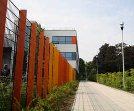 Decorative and sports fencing for new-build school