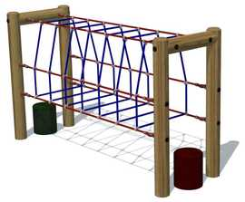 Net Tunnel Plus timber and rope climbing frame