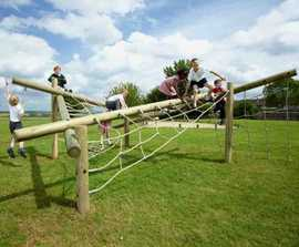 Tangle Tree Climber - timber and rope climbing frame
