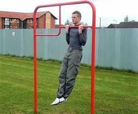 Steel fitness trail equipment