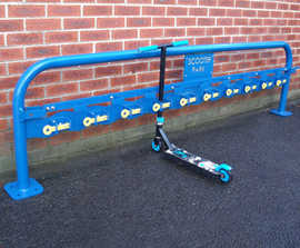Scooter racks and shelters