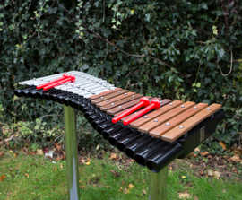 Sensory play outdoor musical instruments