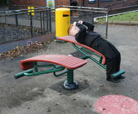 Children's outdoor gym and fitness equipment