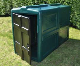 Lockerpod+ 100% recyclable cycle locker - up to 4 bikes