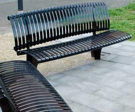 Piano - galvanised, coated steel bench
