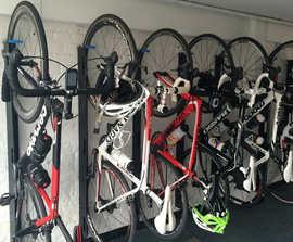 Westerham vertical bike rack with 3-point locking
