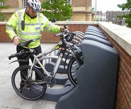 Streetpod cycle rack for high level bike security