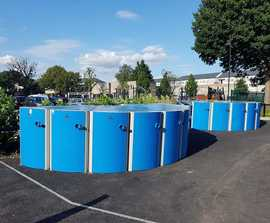 Secure cycle lockers for residential scheme - Enfield
