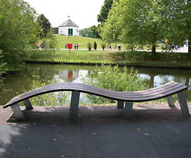 Wave - recycled plastic bench