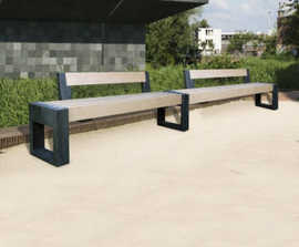 Canvas - straight recycled plastic bench