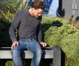 Smart solar-powered recycled plastic bench