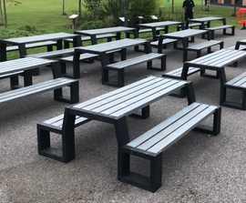 Matrix 008 - recycled plastic picnic bench
