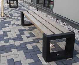 Matrix 004 - recycled plastic bench