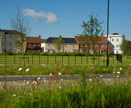 SuDS flood protection for residential development