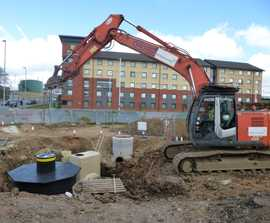 Stormwater management system for Luton Airport expansion