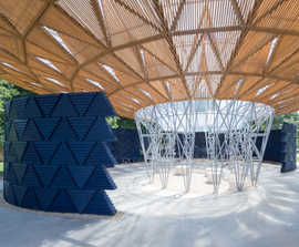 Geocellular water storage for Serpentine Pavilion