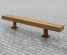 Type 3 up-cycled greenheart timber bench