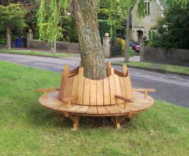 Bespoke timber tree seats
