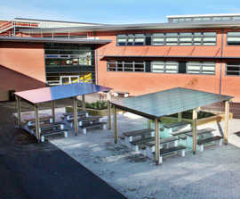 Shelters for Crown Hills Community College, Leicester