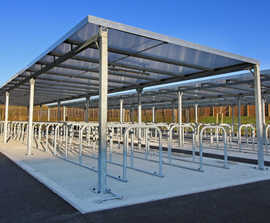 Robust Cycle Shelters for Large Academy School