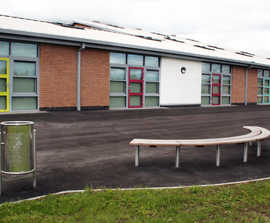 High specification outdoor furniture for primary school