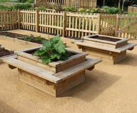 Sheldon Timber Planter Bench - SPL316