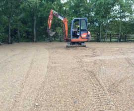 Gravel stabiliser ensures well drained overflow car park