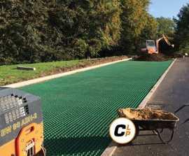 Office car park surfacing using CORE Grass™ 60-40R