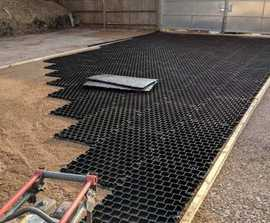 New surface for waterlogged commercial yard