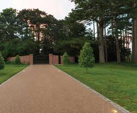 Resin bound driveway for BALI award-winning garden