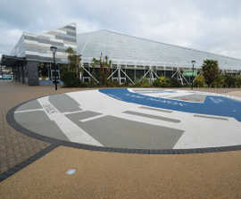 Clearbound® decorative surfacing for wayfinding