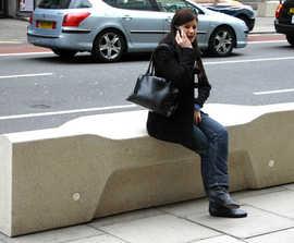 Camden concrete bench