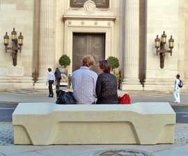 PAS 68 Camden concrete bench