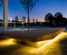 Illuminated benches for Stockley Park business park