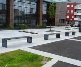 BLOC contemporary steel bench