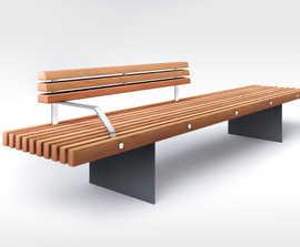 SOCA steel bench