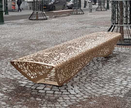 OSSO contemporary mild steel bench