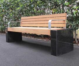 Elements® Seat & Bench - Granite Blocks