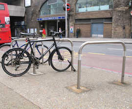 Sheffield steel & stainless steel cycle stand
