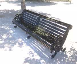 Traditional seat supplied to Parque del Agua, Spain