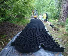 Geoweb® Tree Root Protection - Case Study Bodnant Garden