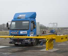 PAS 68 crash rated manual arm barrier