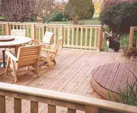 Standard timber decking boards