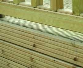 Heavy timber decking boards
