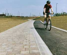 Concrete tactile paving for cycleways